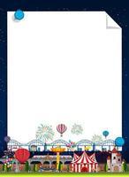 grens sjabloon met carnaval op achtergrond