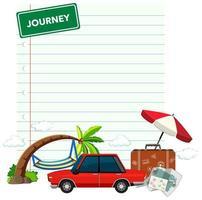 vakantie thema gelinieerd papier