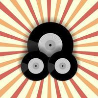vinyl record achtergrond vector