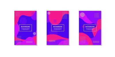 dynamische creatieve achtergronden met heldere geometrische vormen