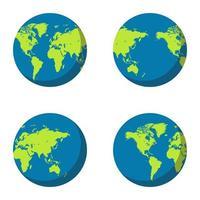 aarde wereldbol ingesteld