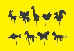 Dieren schaduw marionet vectoren