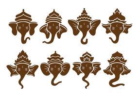 Bruine Ganesh Pictogrammen
