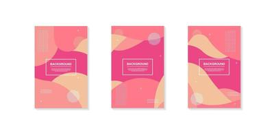 set van roze afgezwakt dynamische geometrische vormontwerpen