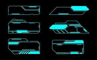 toekomstige interface schuine geometrische kaderset vector