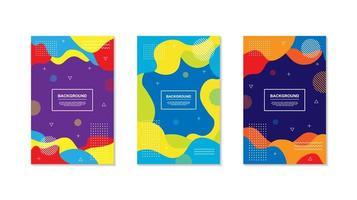 set van veelkleurige trendy dynamische geometrische vormontwerpen