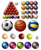 verschillende sportballen vector
