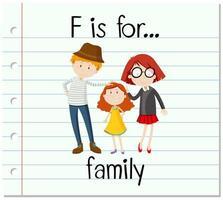 f is voor familie vector