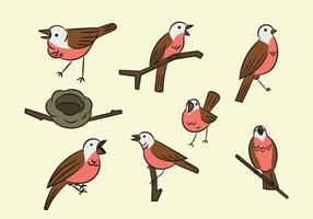 Gratis Cartoon Nightingale Bird vector