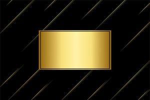 gouden Rechthoekkader en diagonale lijnen op zwart