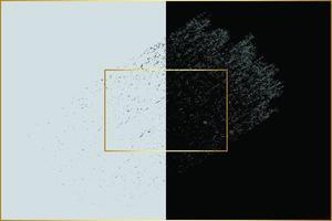 gouden kaders en penseelstreken op blauw en zwart vector