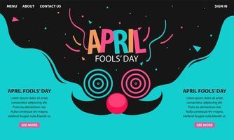 kleurrijke april dwazen dag websjabloon
