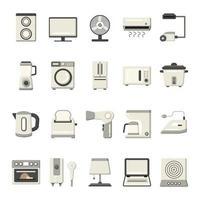 huishoudelijke apparaten icon set