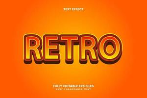 bewerkbaar retro teksteffect