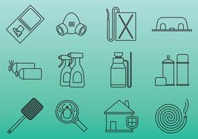 Pest control tool icons vector