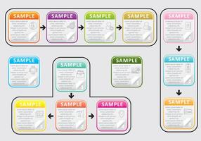 Tekstbladen van Flip Pages vector