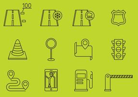 Straat En Wegweg Icons vector