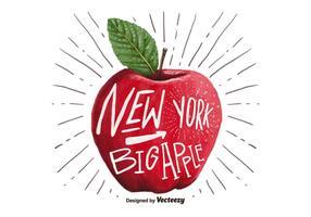 Gratis New York Big Apple Waterverf Vector