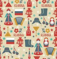 naadloze patroon met Russische symbolen.