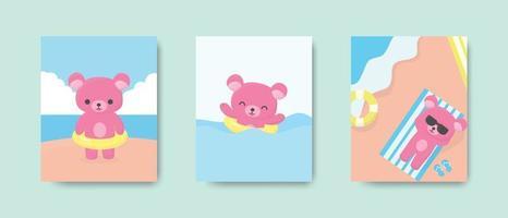 gelukkig schattige beer briefkaart