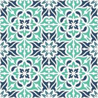 blauw decoratief siertegelpatroon vector