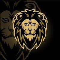 leeuwenkop mascotte vector