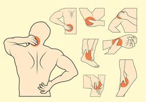 Pijn Illustratie Set vector