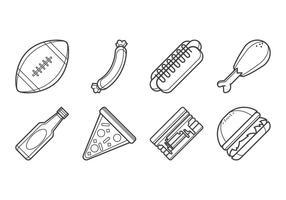 Gratis Tailgate Feast Icon Vector