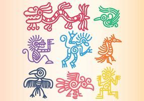 Quetzalcoatl Pictogrammen Vector