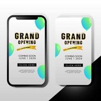 grootse opening promotie sjabloon voor mobiele telefoons
