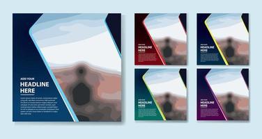 kleurrijke promo-sjablonen voor sociale media vector