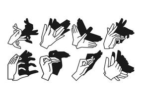 Gratis Shadow Hand Puppet Vector