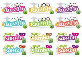 Rio 2016 Titels vector