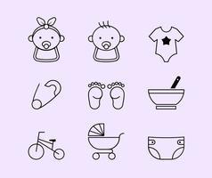 Baby lijn iconen