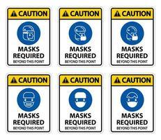 waarschuwingssymbool maskers vereist