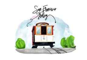 Gratis San Francisco Trolley Vector