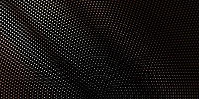 cirkelvormig halftoon gestippeld gouden patroon op zwart