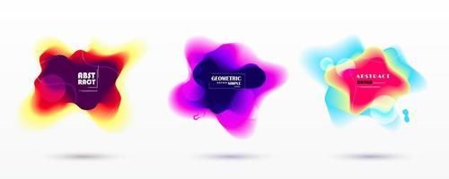 kleurrijke wazig abstracte vloeibare geometrische vormen vector