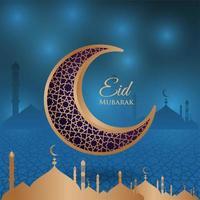 gouden halve maan islamitisch vector