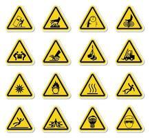 waarschuwing gevaarsymbolen etiketten ondertekenen