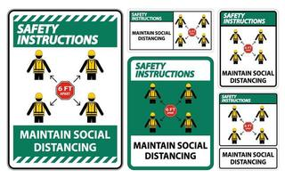 sociale afstand houden