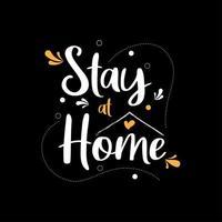 blijf thuis voor stop coronavirus vector