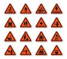 driehoekige waarschuwingsborden vector