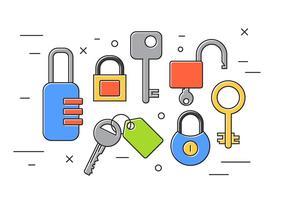 Sloten en sleutels vector