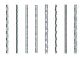 Rebars vector set
