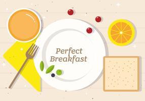 Gratis Perfecte Ontbijt Vector Illustratie