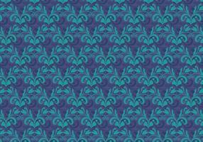 Cobalt Vector Westelijk Bloei Patroon
