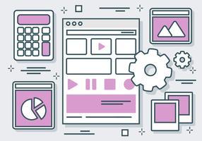 Gratis Lilac Website Elementen Vector Achtergrond