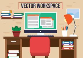 Gratis Red Chair Office Vector Desk