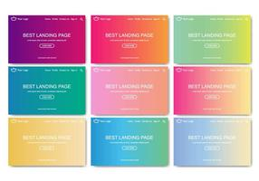 Gratis Landing Page Web Kit Lineaire Verloop Vector